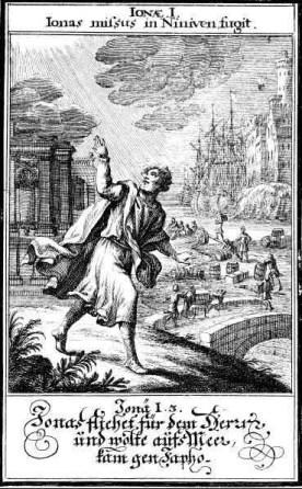 Jonah flees to Tarshish